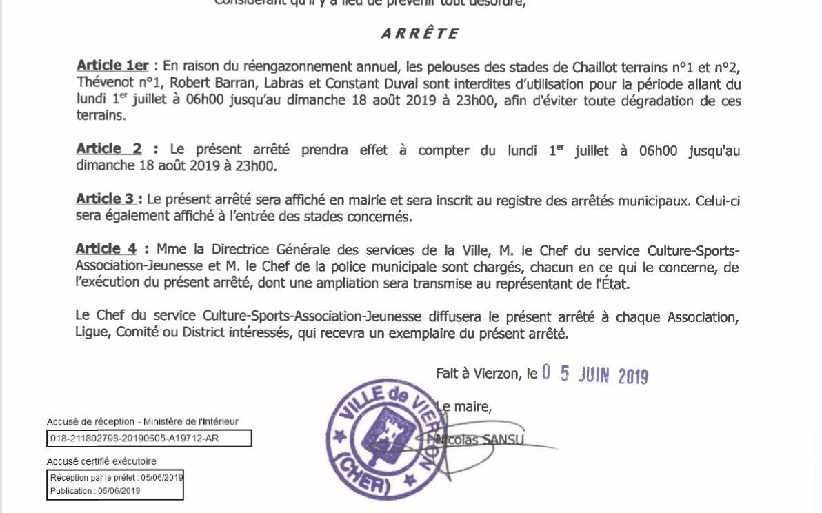 19 06 06 Arrêté Municipal Thévenot.JPG