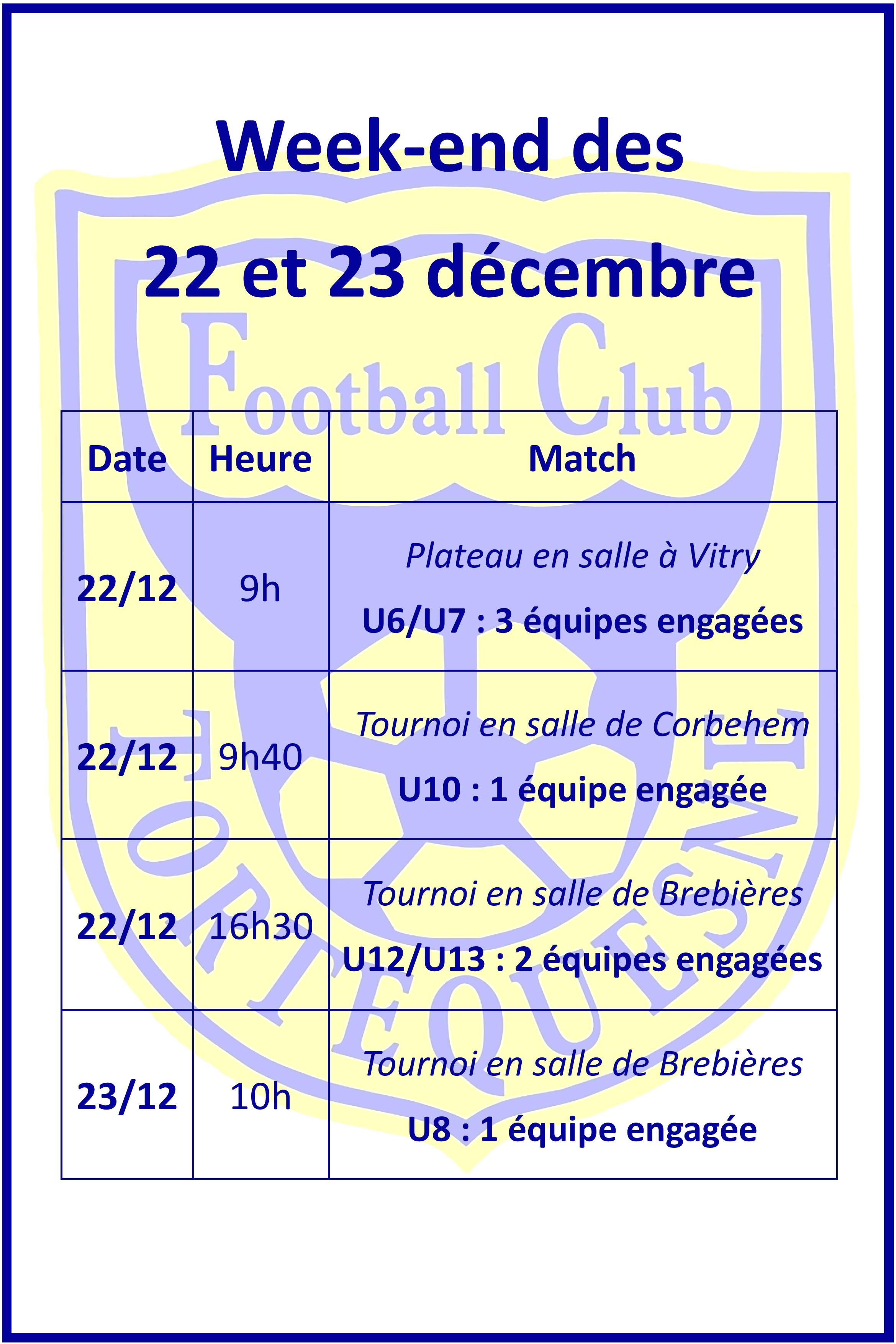 Actualite Joyeux Noel Club Football Fc Tortequesne Footeo