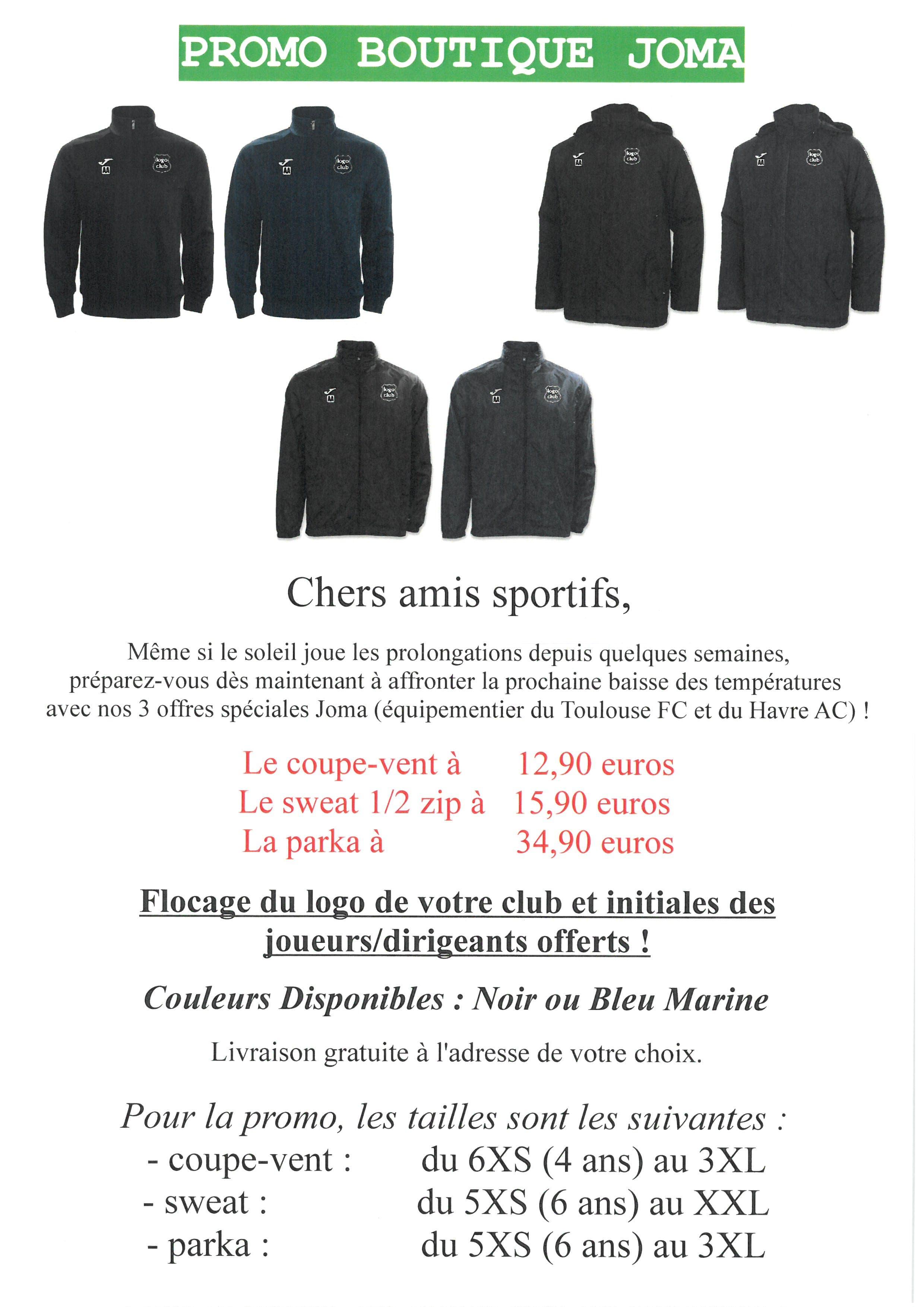 design elegante scarpe a buon mercato più alla moda Actualité - PROMO : JOMA Jusqu'au 31/12/2018 - club Football Union ...