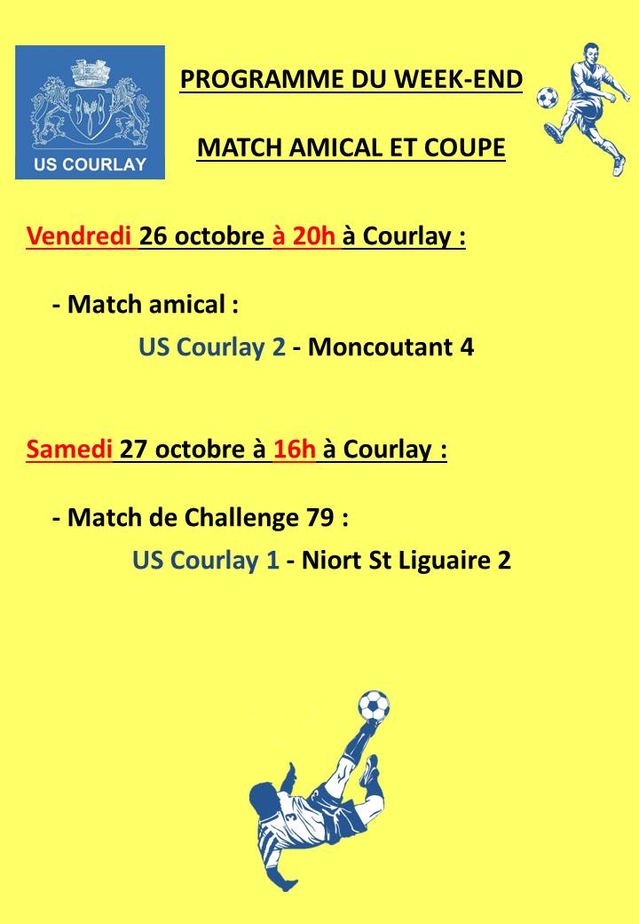2018_10_25 Matchs_au_programme_du_week_end