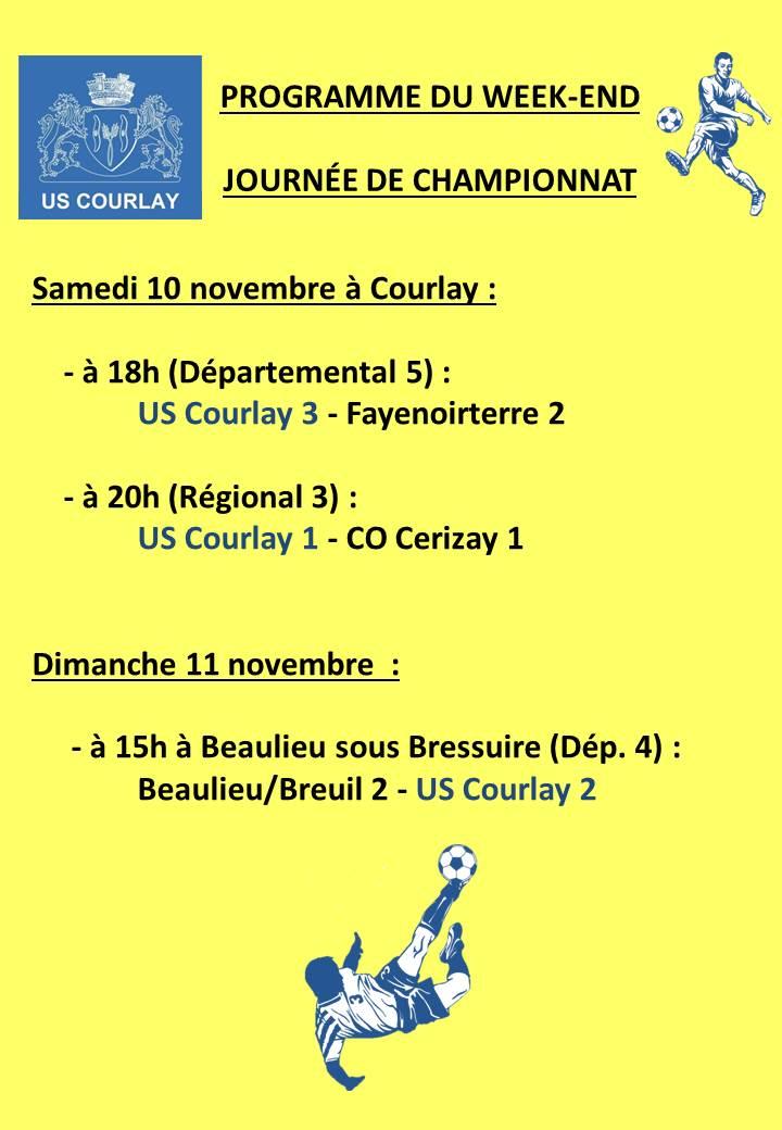 2018_11_08 Matchs_au_programme_du_week_end